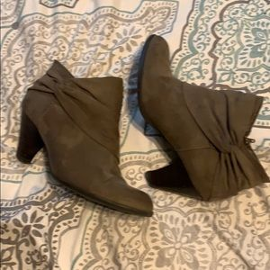 Laura Ashley Brown Suede Ankle Boot.